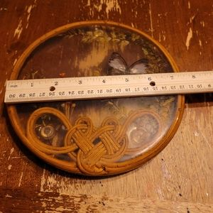 Vintage hand made butterfly holder